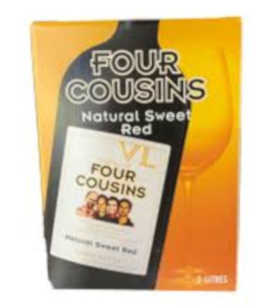four cousins natural sweet red cask