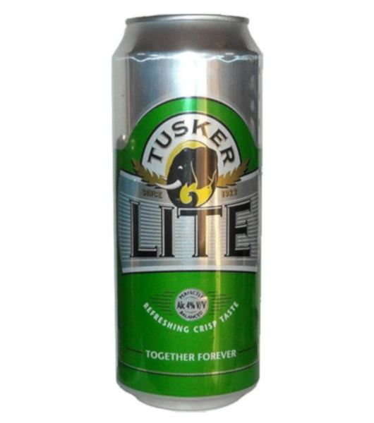 tusker lite can
